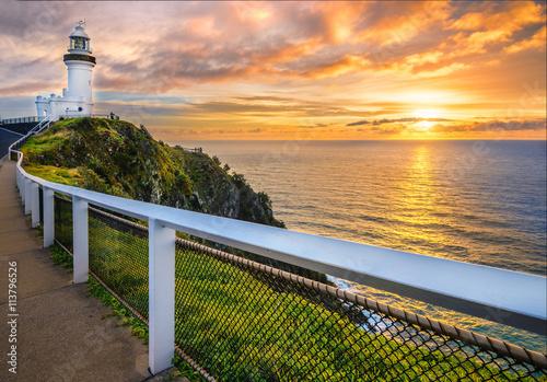 Canvas Print Sunrise at Cape Byron. Horizontal Frame.