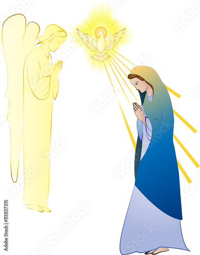 Photo Annunciation to the Blessed Virgin Mary, conception by the Holy Spirit