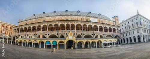 Canvas Print Square of Erbe, view on Palazzo della Ragione , Padova, Italy