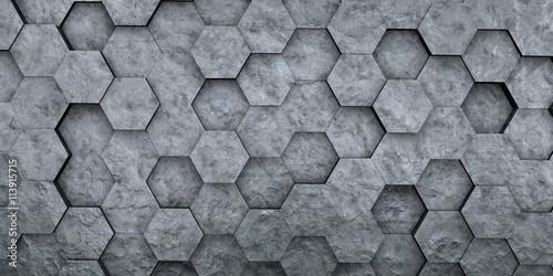 Digital hexagons background Fototapet