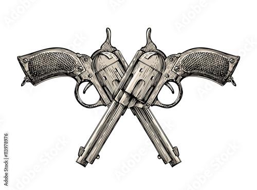 Fototapeta Crossed pistols