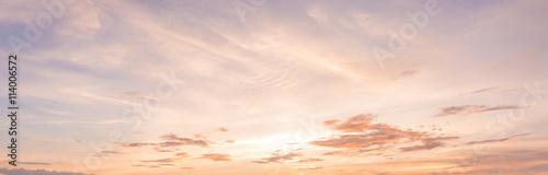 panorama sunset sky