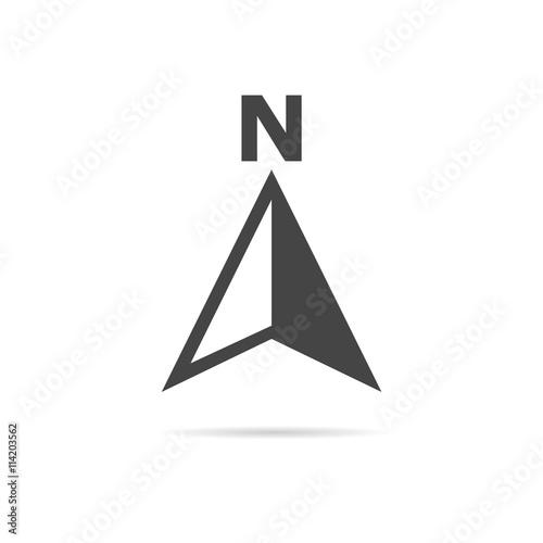 Obraz na plátně Vector north direction compass icon
