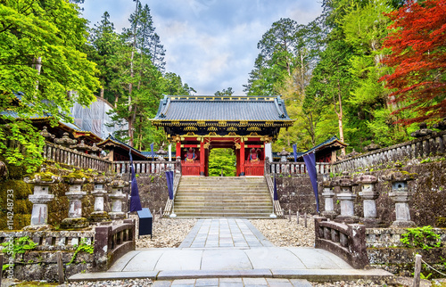 Canvas Print Futarasan shrine, a UNESCO world heritage site in Nikko