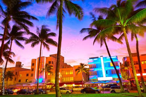 Miami South Beach sunset Ocean Drive Florida