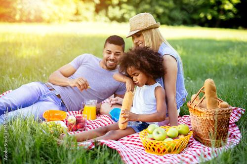 Fotografia Family enjoying picnic outing
