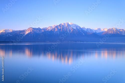 Canvas Print Switzerland Landscape : Lake Geneva of Montreux