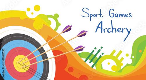 Fényképezés Archery Target With Arrows Archer Sport Game Competition