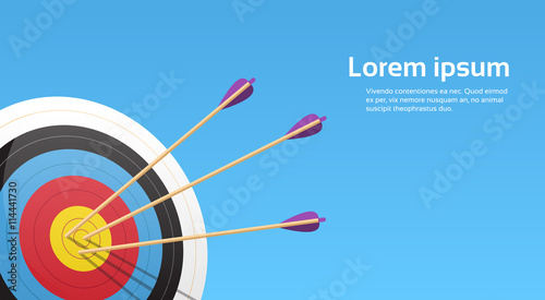 Photo Archery Target With Arrows Archer Sport Game Competition