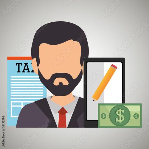 Photo tax debtor design, vector illustration eps10 graphic