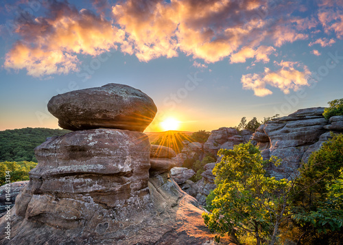 Carta da parati Garden of the Gods, scenic sunset, Southern Illinois