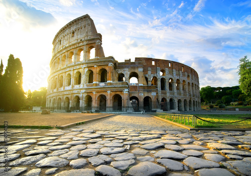 Wallpaper Mural Road to Colosseum