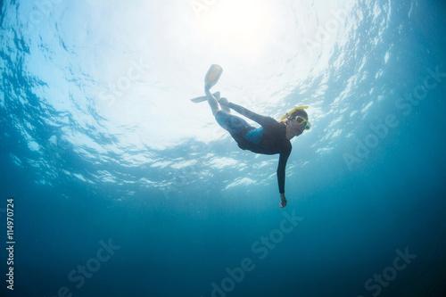 Fotografia, Obraz Lady diver