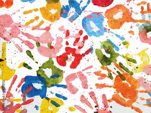 ręce dzieci kolor tła
