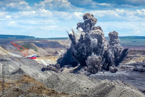 Fototapeta Explosure on open pit