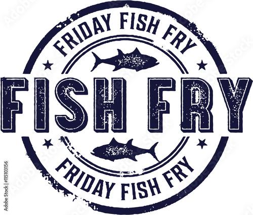 Photo Vintage Friday Fish Fry Sign