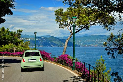 Carta da parati Beautiful road to Portofino from Santa Margherita