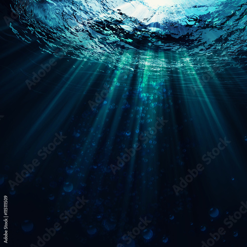 Fotomural Deep Blue Sea, abstract marine backgrounds for your design