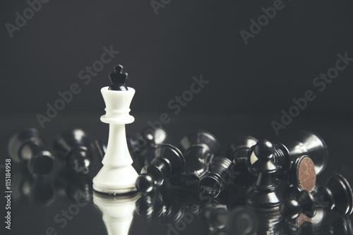 Obraz na plátně Šachové figurky ležící