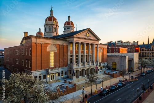 View of the York County Courthouse, in York, Pennsylvania. Fototapeta