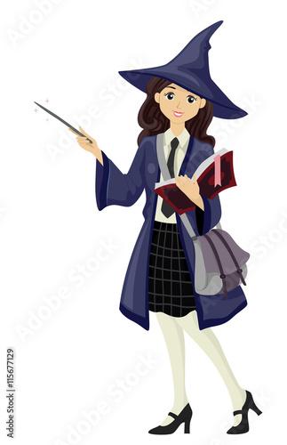 Obraz na płótnie Teen Girl Wizard Student