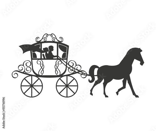 Fotografía wedding carriage isolated icon design