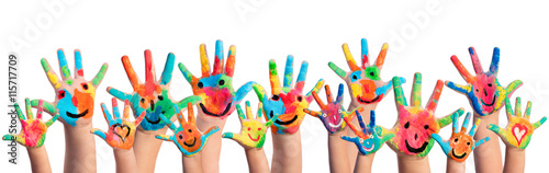 Hands Painted With Smileys