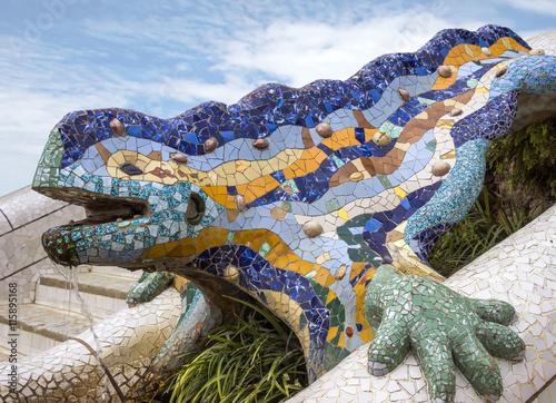 Lizard of Gaudi Fototapet