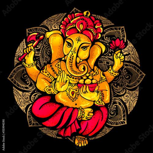 Ταπετσαρία τοιχογραφία Hindu Lord Ganesha