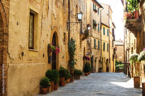 A street of Pienza, Italy