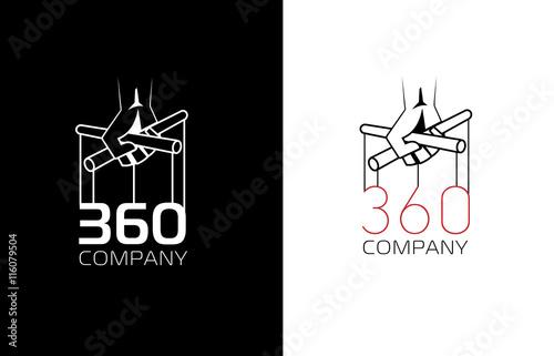 Photo Hand puppet flat logo