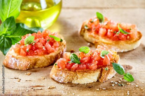 Fotografia, Obraz Tasty savory tomato Italian appetizers
