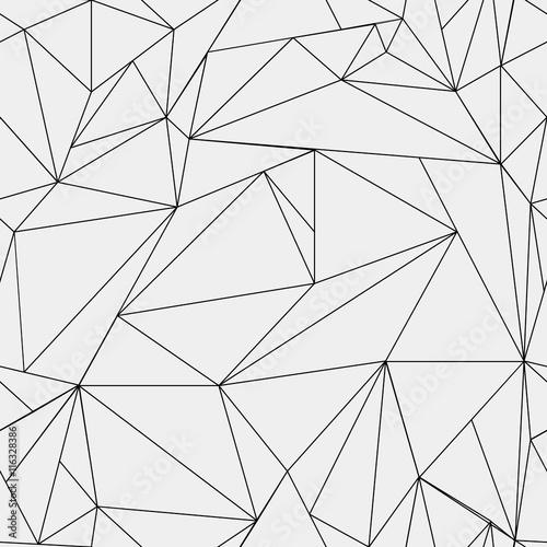 Fototapeta premium Geometryczny prosty czarno-biały wzór minimalistyczny, trójkąty lub witraże. Może być używany jako tapeta, tło lub tekstura.