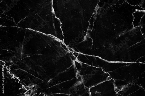 czarny marmur ma biały wzór tekstury, używać do projektowania produktu.