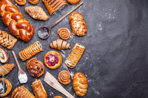Fototapeta Delicious and sweet seasonal pastry background