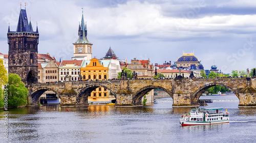 Canvas Print Charles Bridge in Prague, Czech Republic