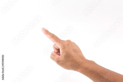 Hand pointing finger Fototapet