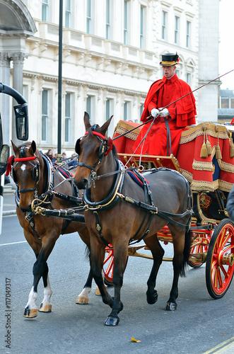 Fototapeta Changing of the guard in Buckingham Palace...