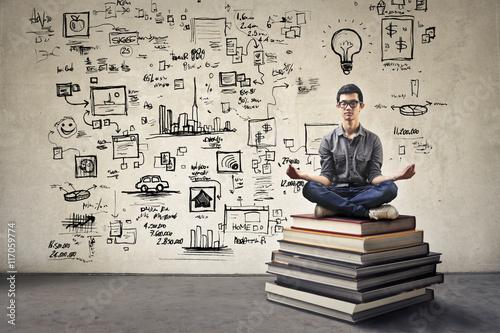 Business meditation Fotobehang
