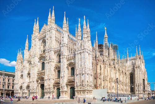 Fototapeta Daytime view of famous Milan Cathedral Duomo