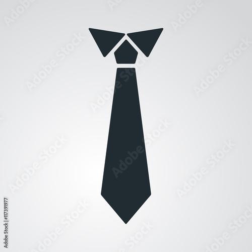 Fotografering Icono plano corbata en fondo degradado