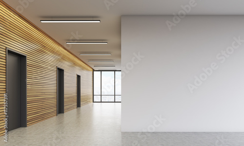 Photo Office lobby with white wall