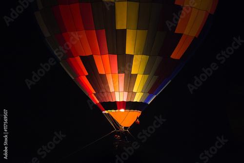 Photo Balloon hot air with night grow