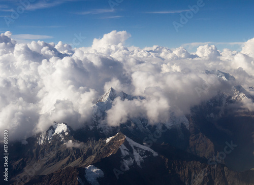 Fotografie, Obraz Peruvian Andes viewed form above