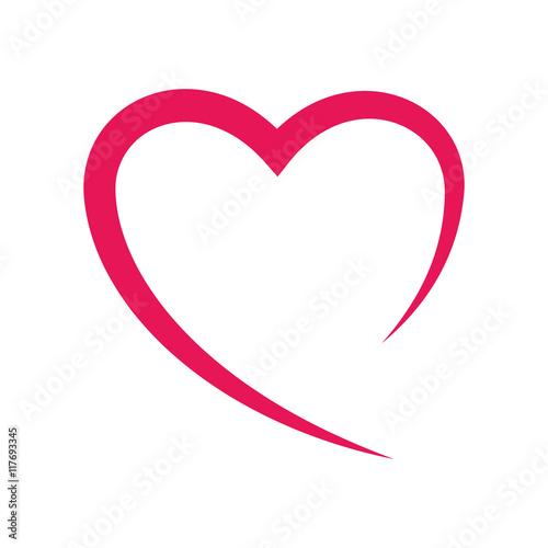Canvastavla heart love romatic passion icon
