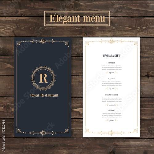 Carta da parati Classy menu restaurant template