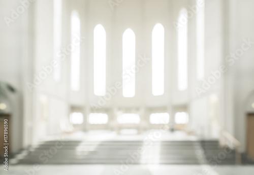 Carta da parati bokeh interior of modern  lutheran, christian church