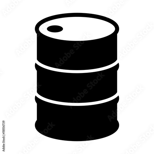 Canvas Print Oil drum container / barrel flat icon for apps and websites