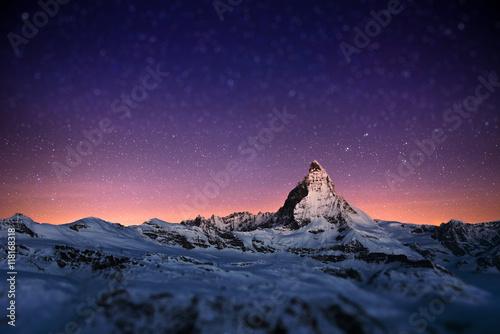 Canvas Print Matterhorn, Switzerland.