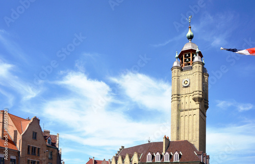 Bergues France Tower in the City Center Poster Mural XXL